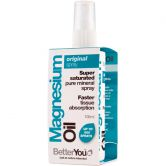 BetterYou Magnésium Huile Originale spray (400 I.E., 15 ml)