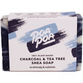 Poapoa Charcoal & Tea Tree Shea savon, 100 g