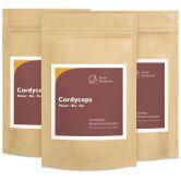 Cordyceps bio en poudre, 100 g, paquet de 3